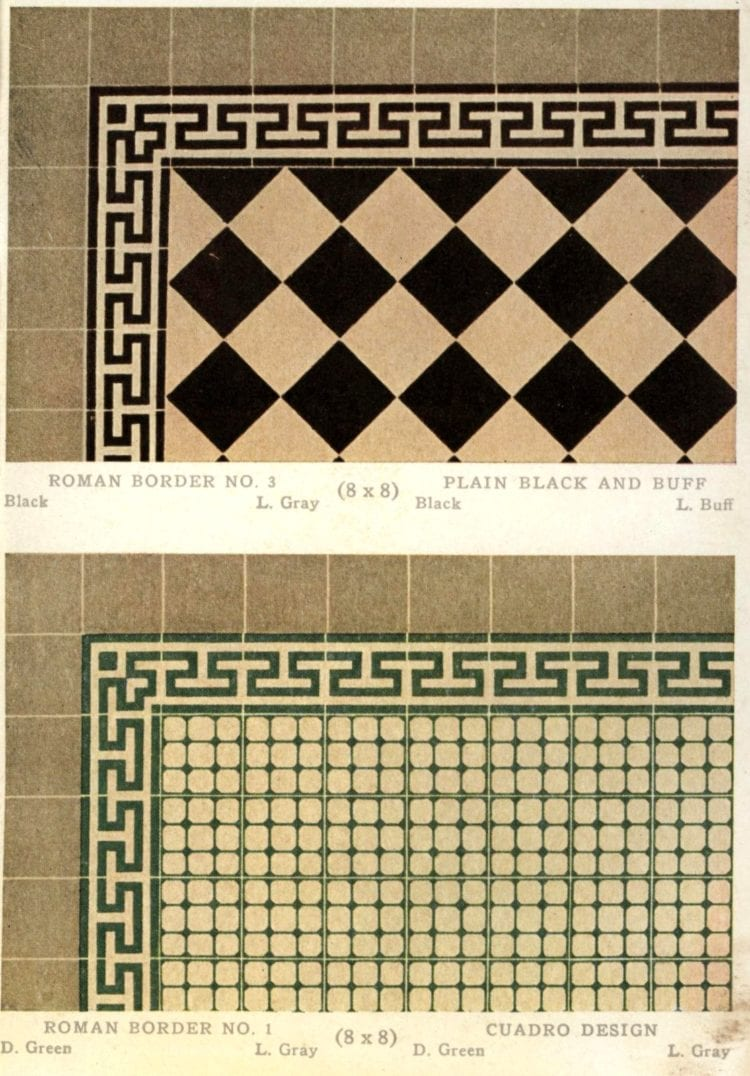 Old tile designs from the twenties