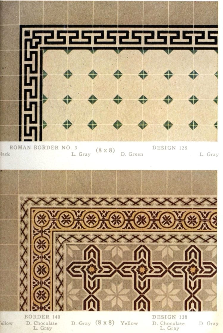 Vintage 20s tile designs from 1923 - National Floor Tile Company (10)