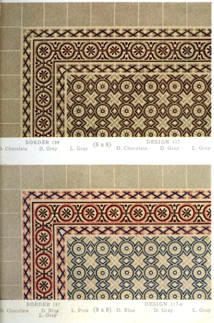 Vintage 20s tile designs from 1923 - National Floor Tile Company (11)