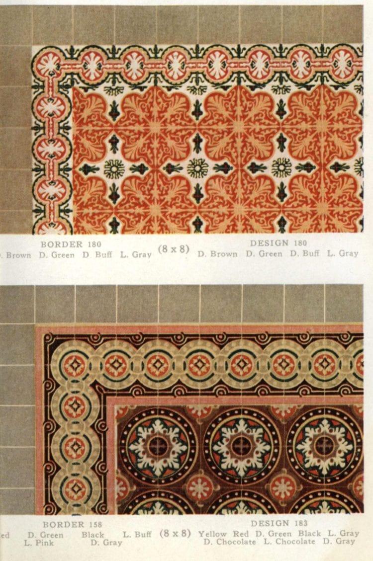Vintage 20s tile designs from 1923