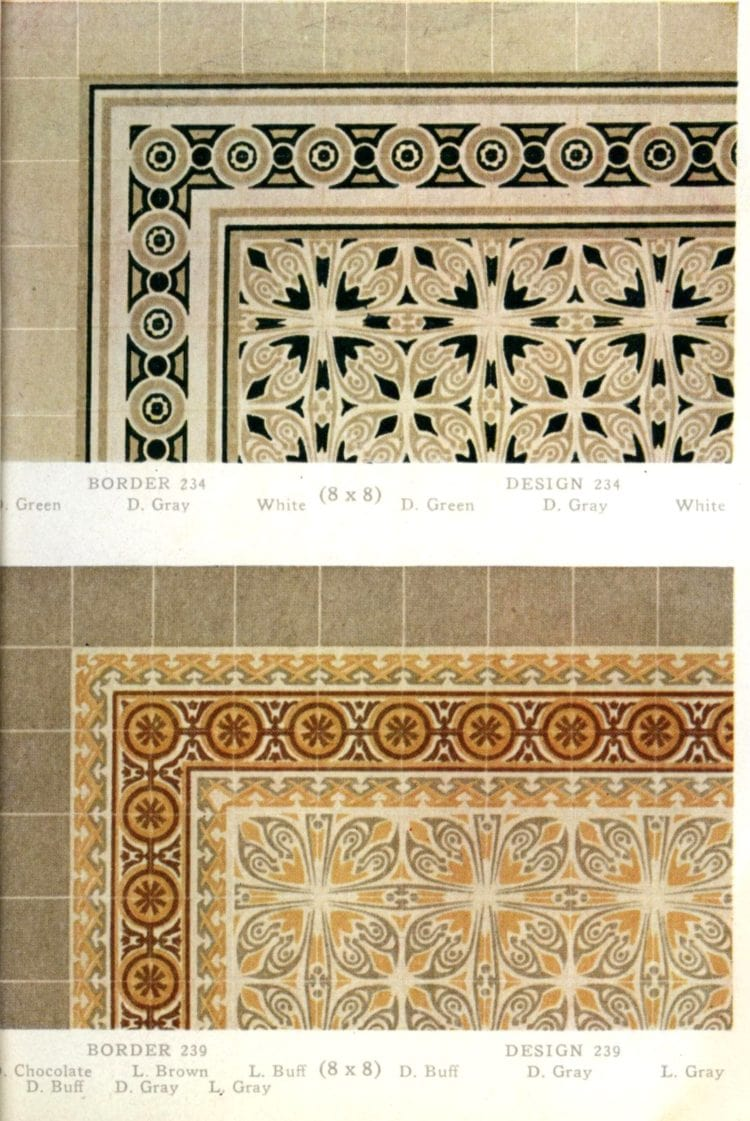 Antique tile patterns and edging/borders