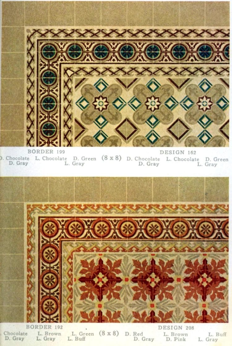 Vintage 20s tile designs from 1923 - National Floor Tile Company (7)