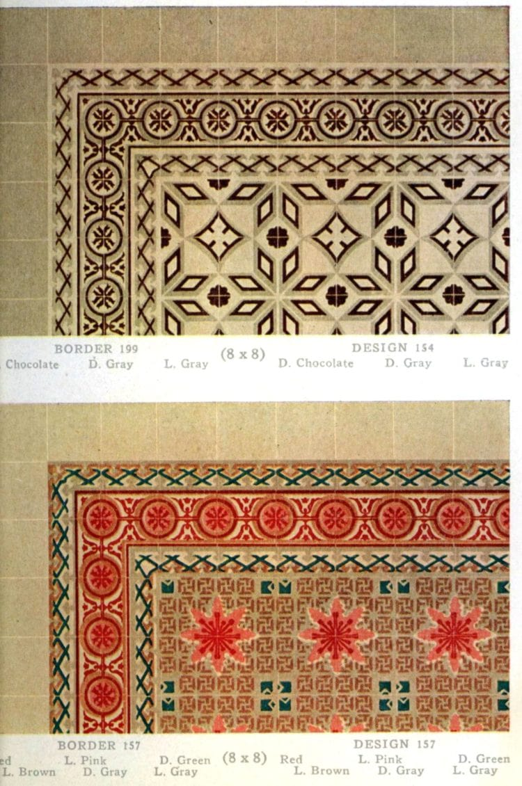 Vintage 20s tile designs from 1923 - National Floor Tile Company (8)