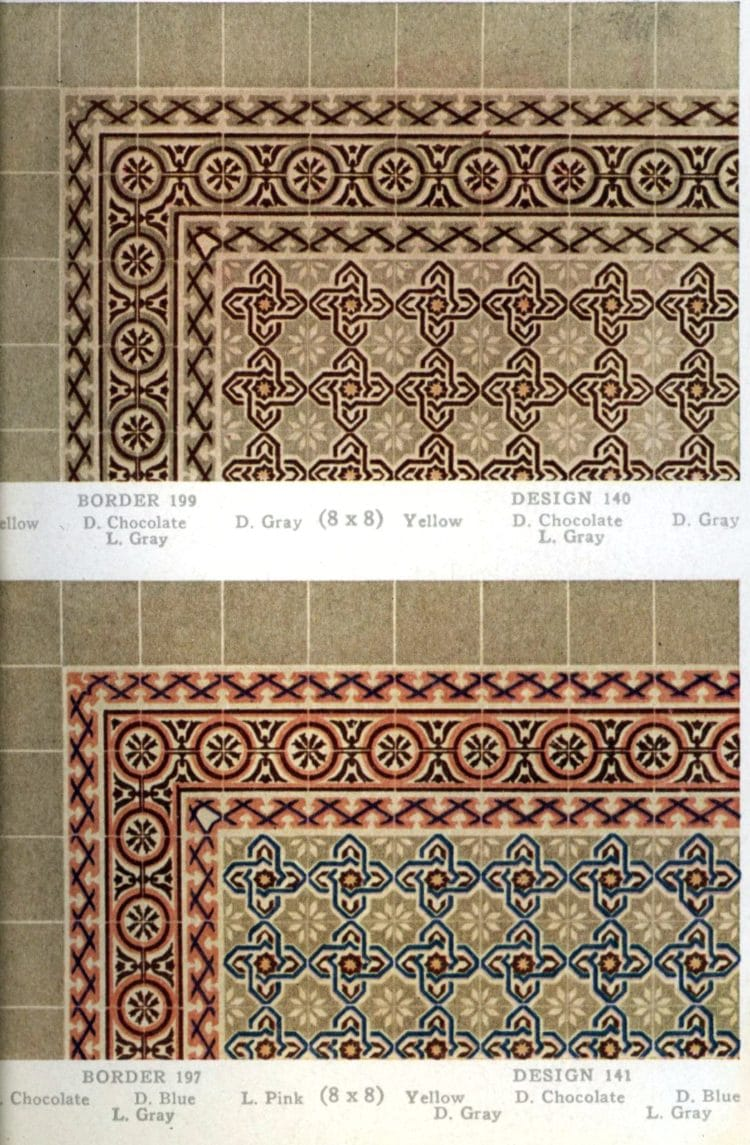 Vintage 20s tile designs from 1923 - National Floor Tile Company (9)