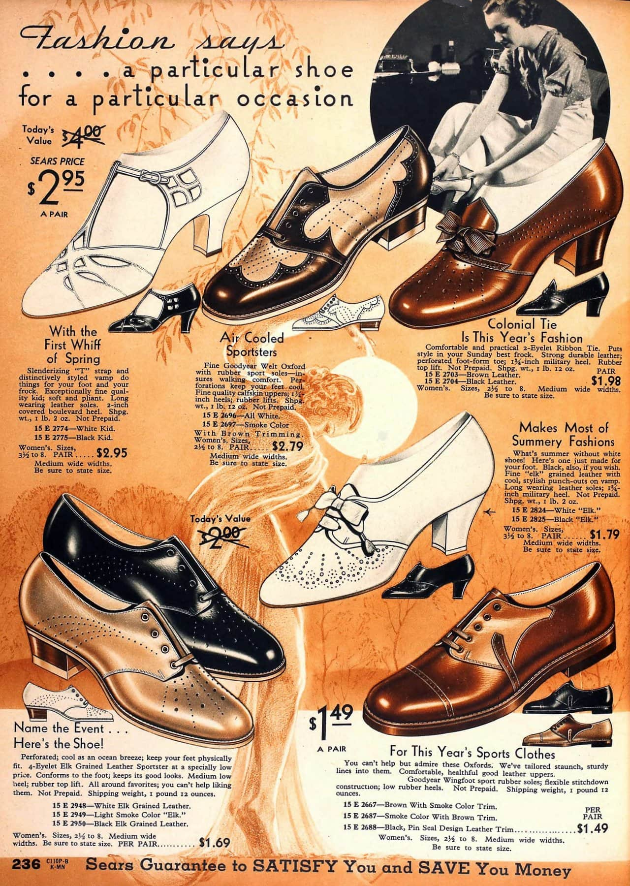 Vintage 30s shoes for women - Retro footwear fashion from 1934 (1)