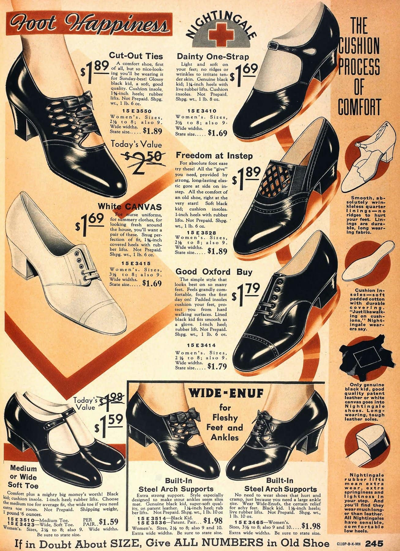 Vintage 30s shoes for women - Retro footwear fashion from 1934 (2)