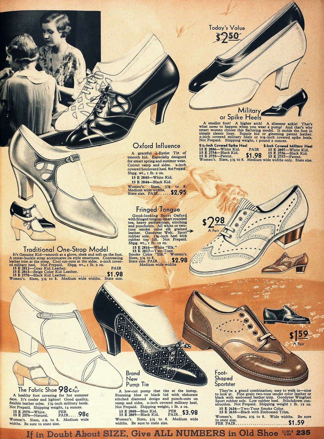 Vintage '30s heels for women from 1934
