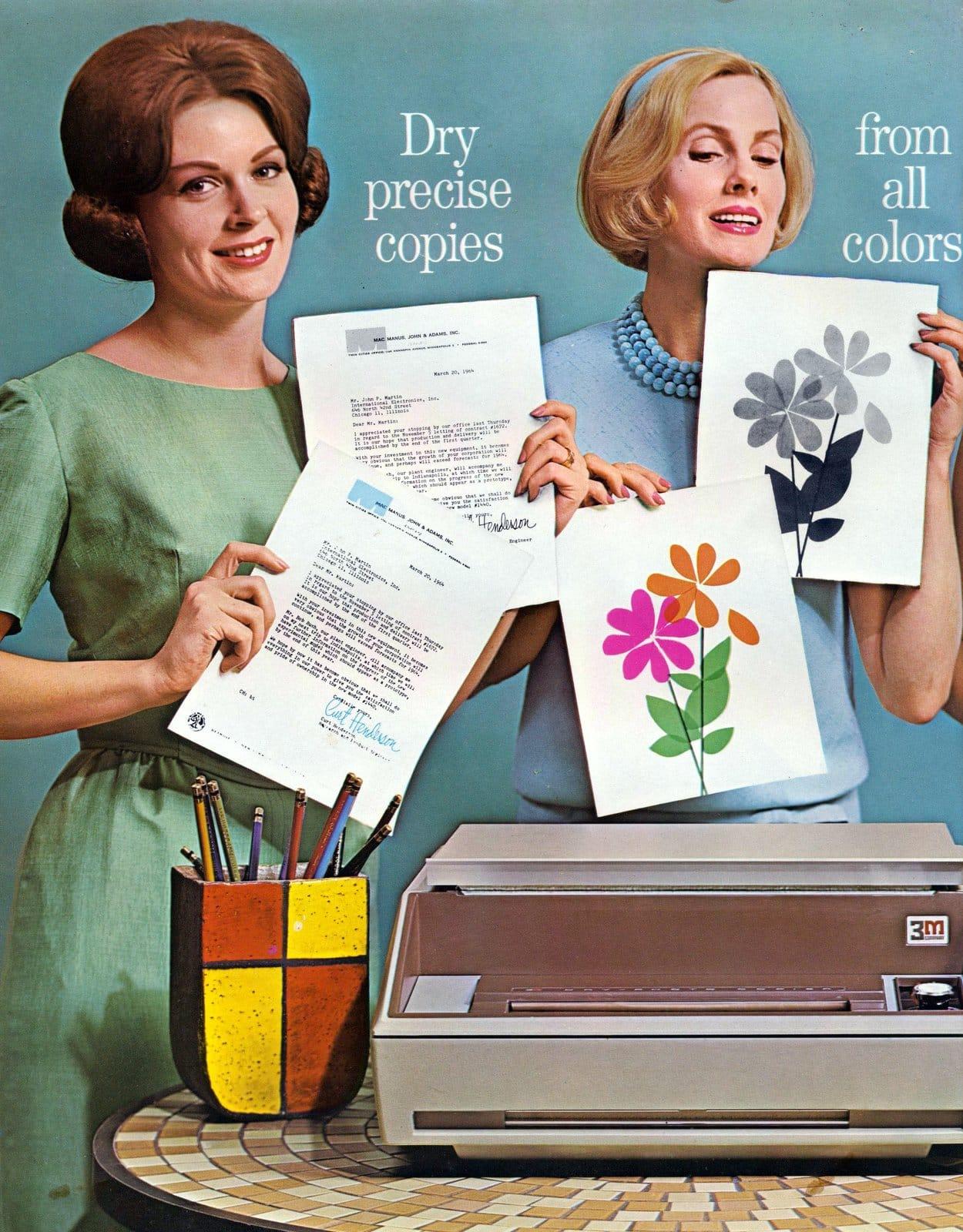 Vintage 3M office equipment - dry photocopier 107 (1963)