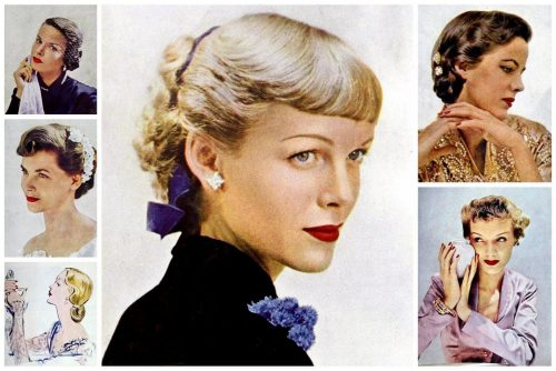 Vintage 40s hairstyles for women