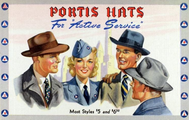 Vintage 40s hats for active service