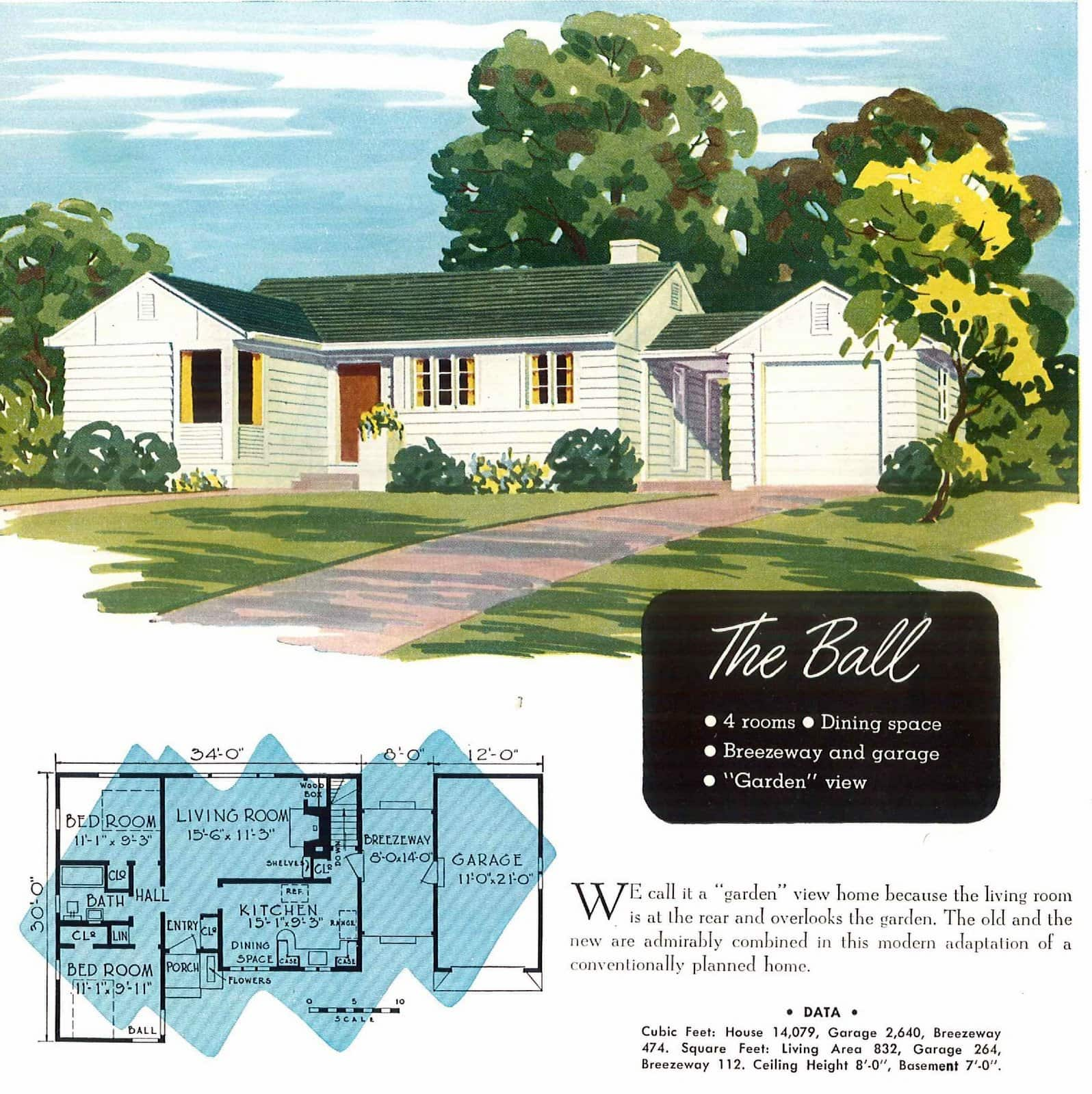 Vintage 40s post-war small starter homes from 1949 (1)