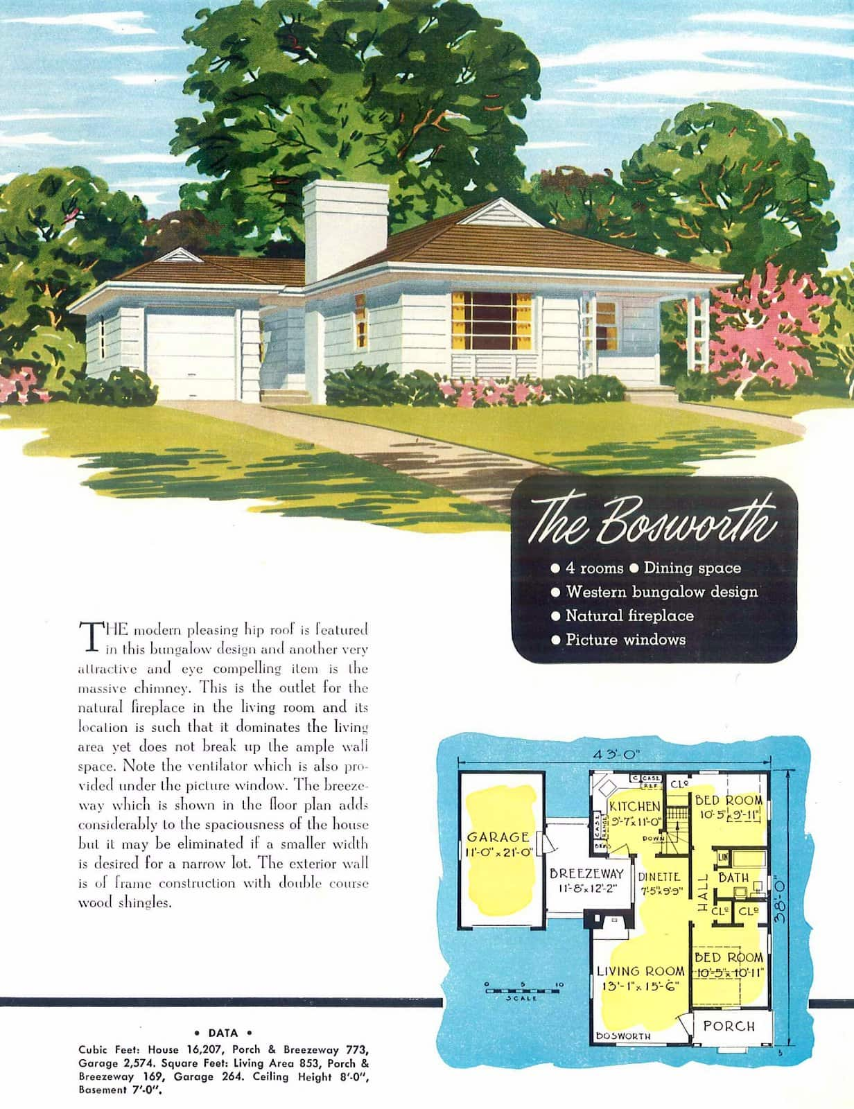 Vintage 40s post-war starter home designs from 1949 (5)