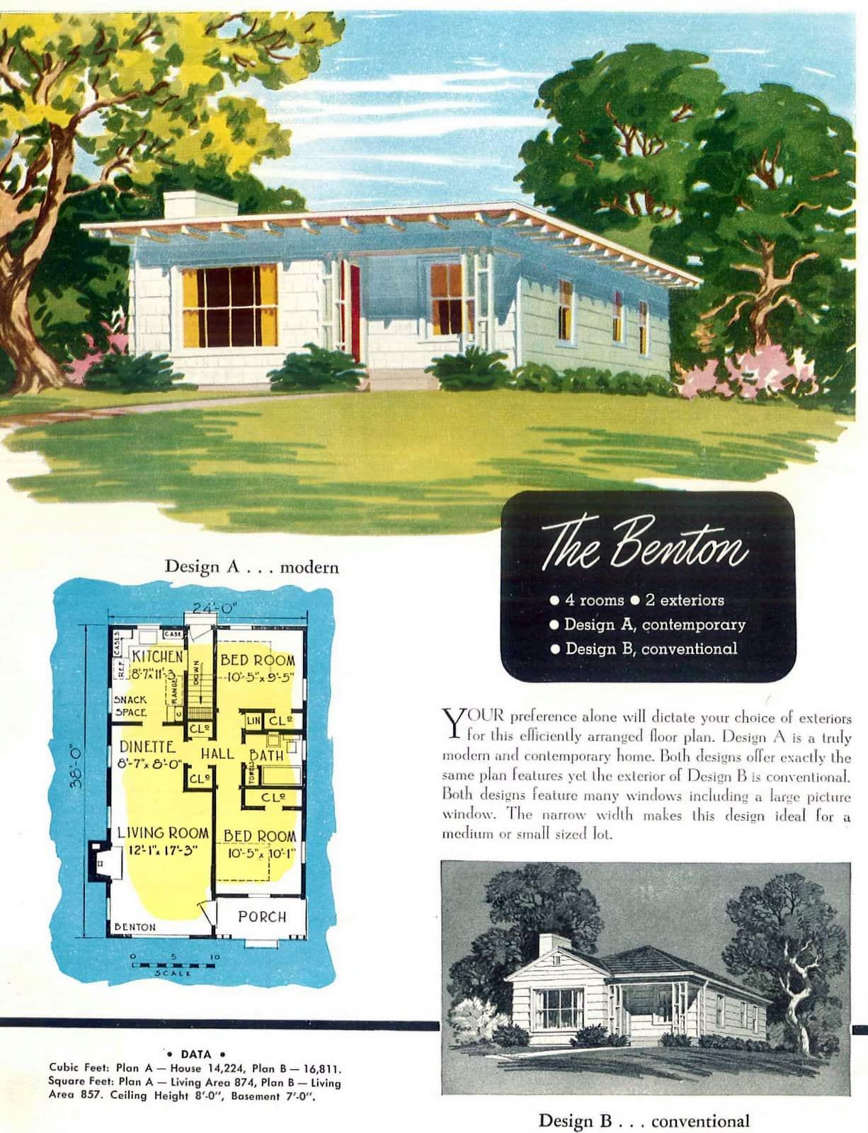 Vintage 40s post-war starter home designs from 1949 (6)