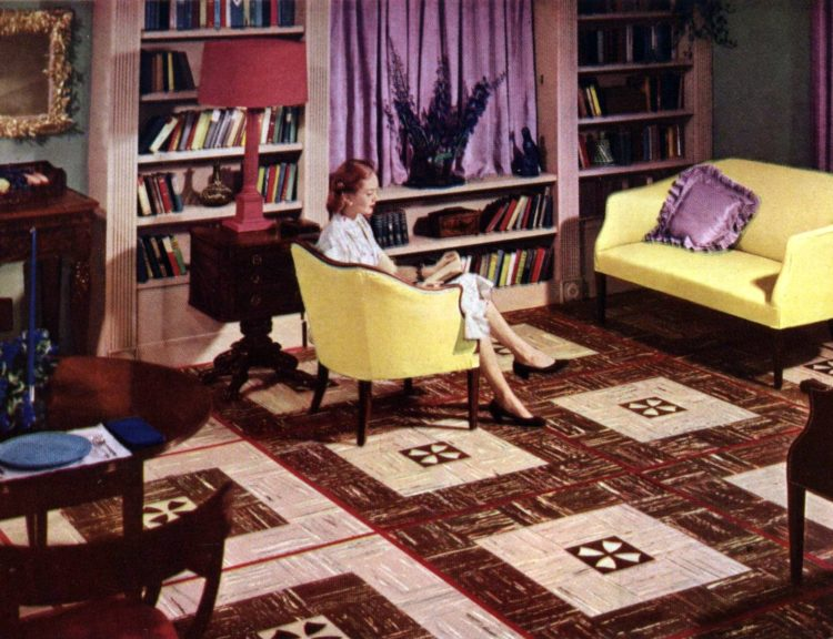 Vintage 50s flooring in square patterns (1)