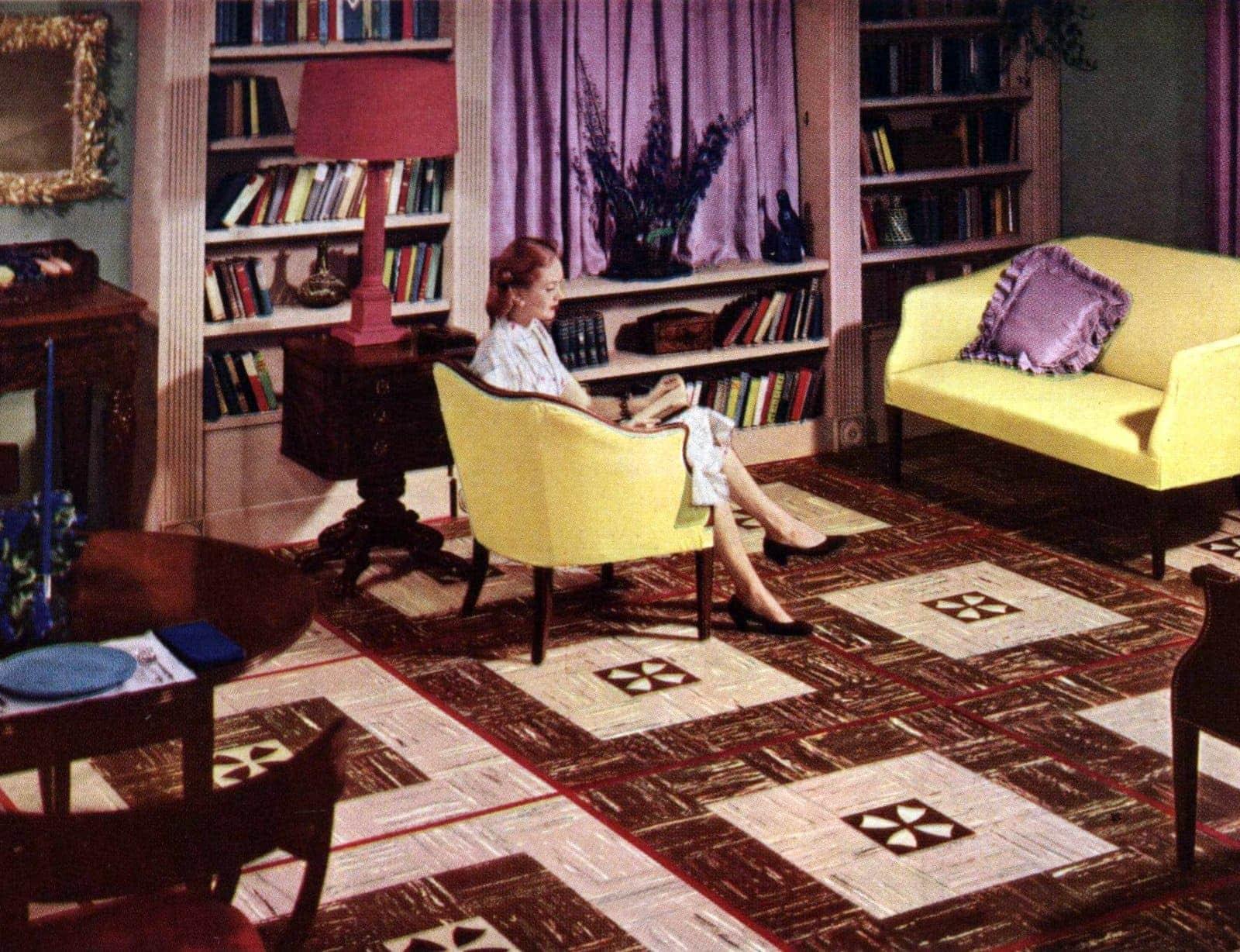 Vintage 50s flooring in square patterns (1)
