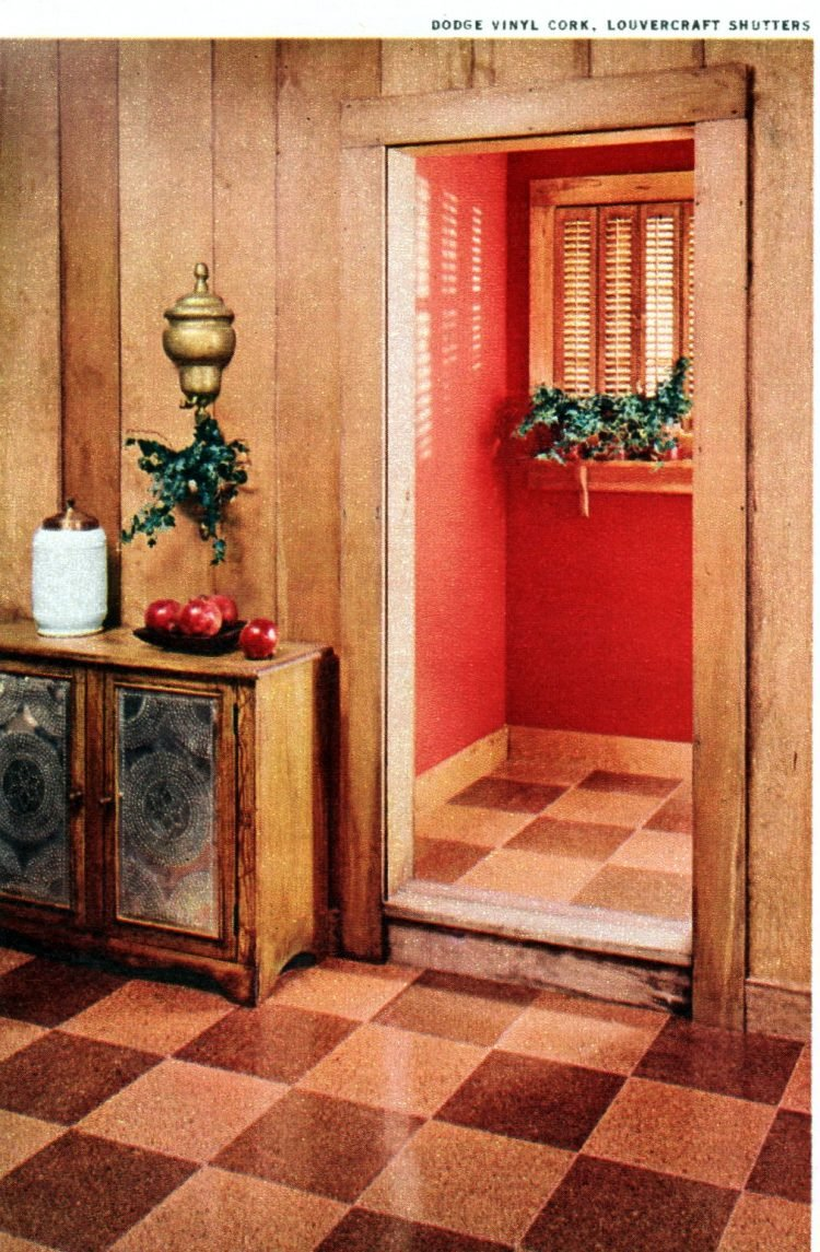 Vintage 50s home decor - mid-century entrance halls