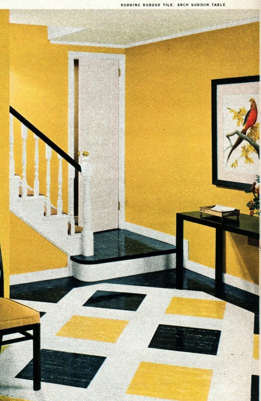 Vintage 50s home decor - Entry halls Open squares