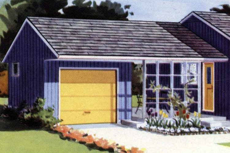 Vintage 50s houses from 1955 - Midcentury homes (1)