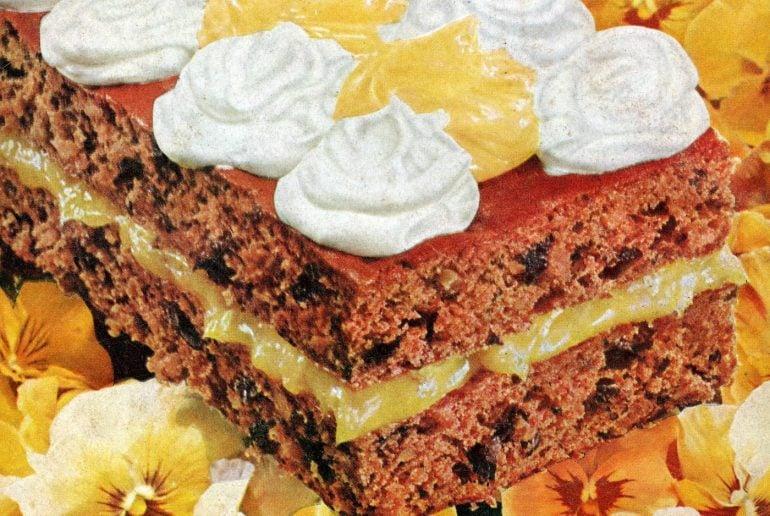 Vintage 50s recipe - Jack Horner prune cake (1958)