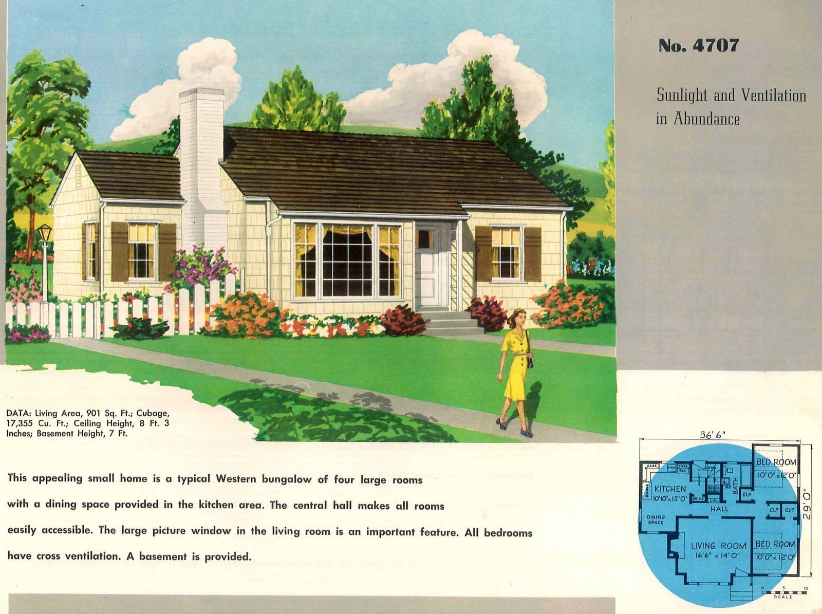 Vintage 50s small starter home plans from 1950 (1)