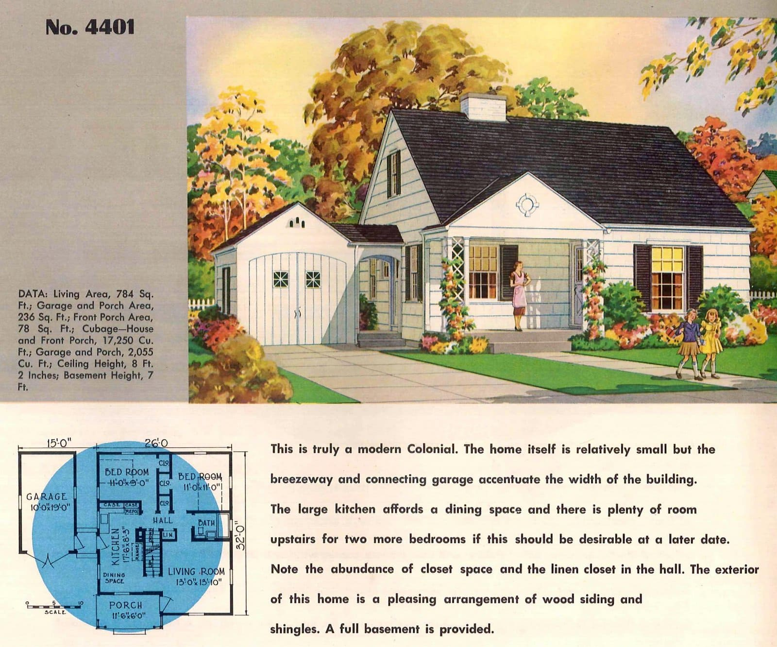 Vintage 50s small starter home designs from 1950 (11)