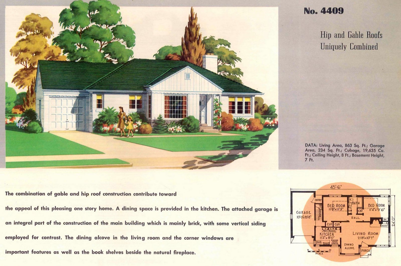 Vintage 50s small starter homes from 1950 (14)