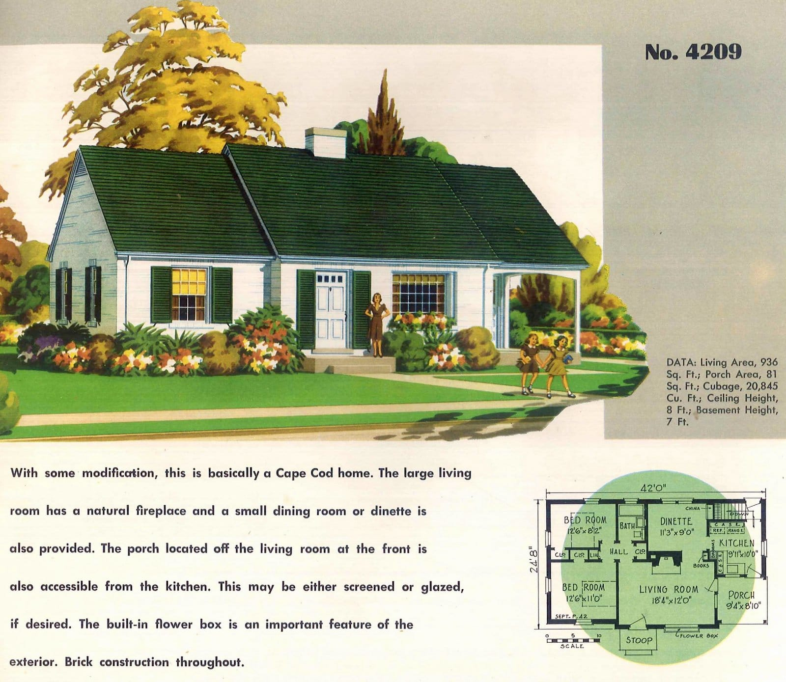 Vintage 50s small starter home plans from 1950 (16)