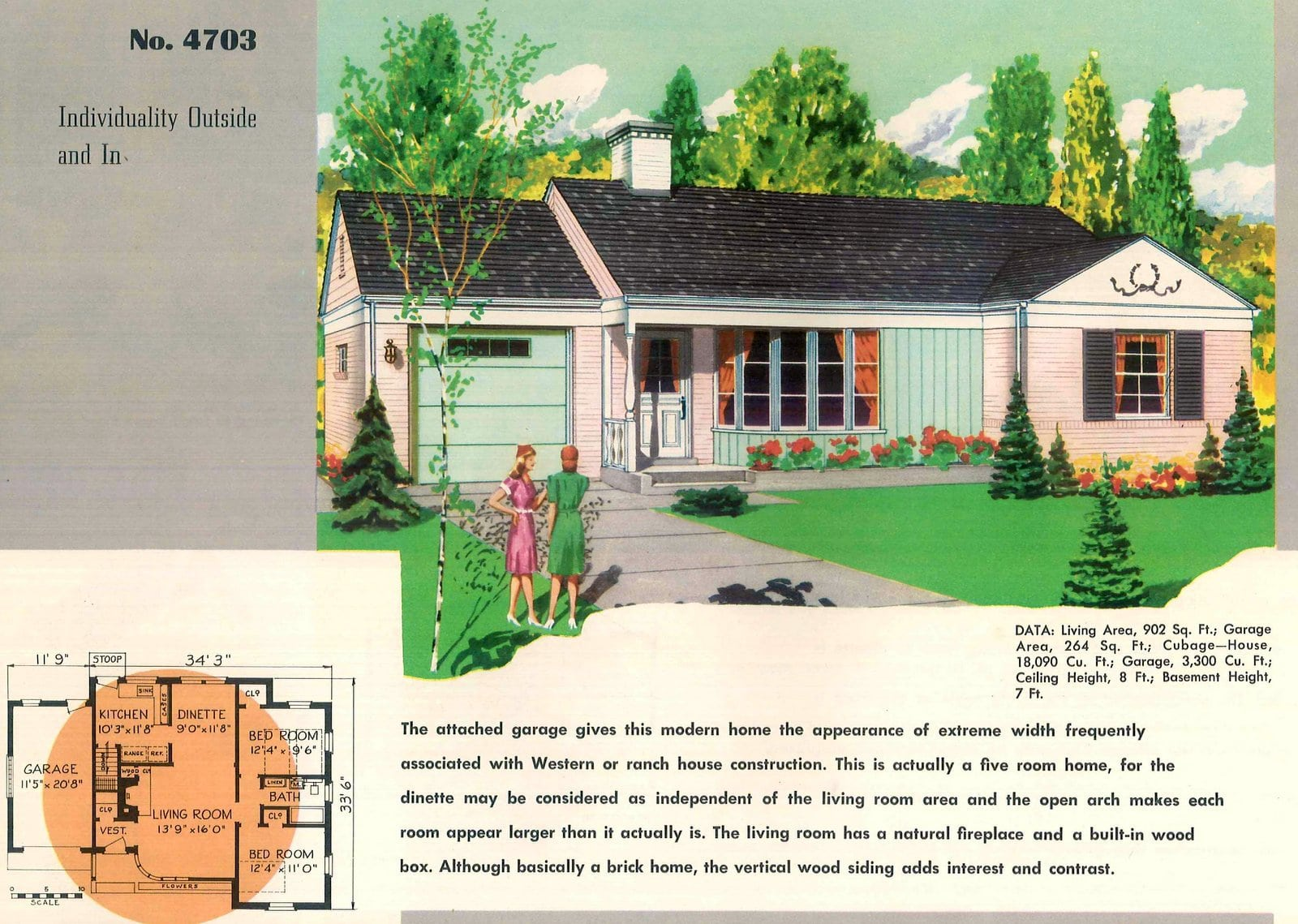 Vintage 50s small starter homes from 1950 (17)