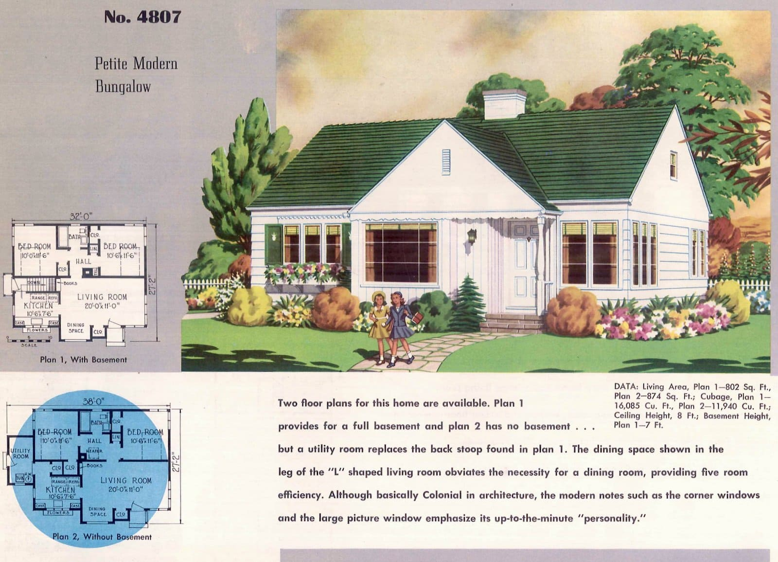 Vintage 50s small starter home designs from 1950 (3)