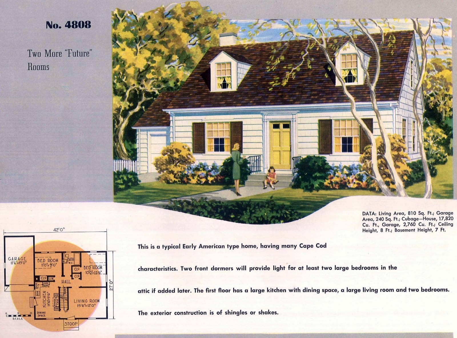Vintage 50s small starter home designs from 1950 (6)
