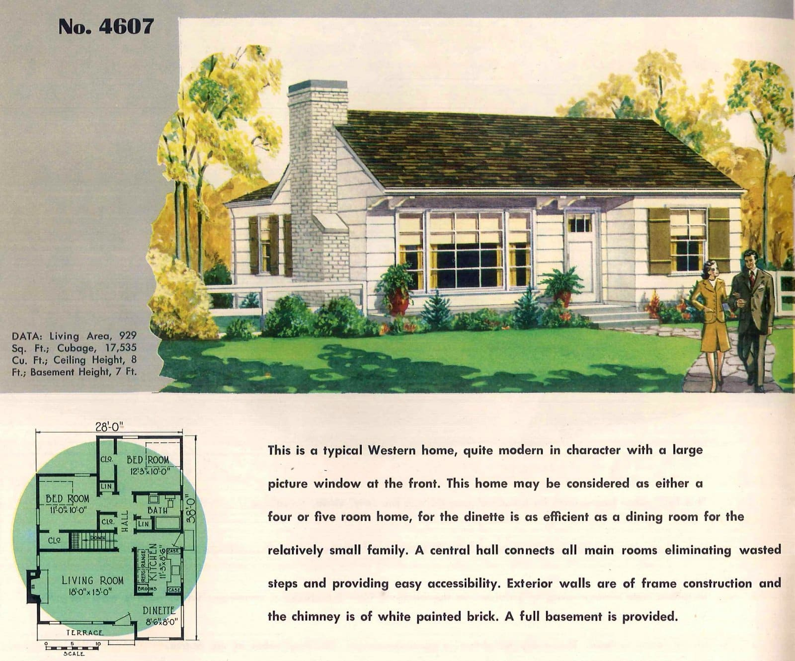 Vintage 50s small starter homes from 1950 (8)