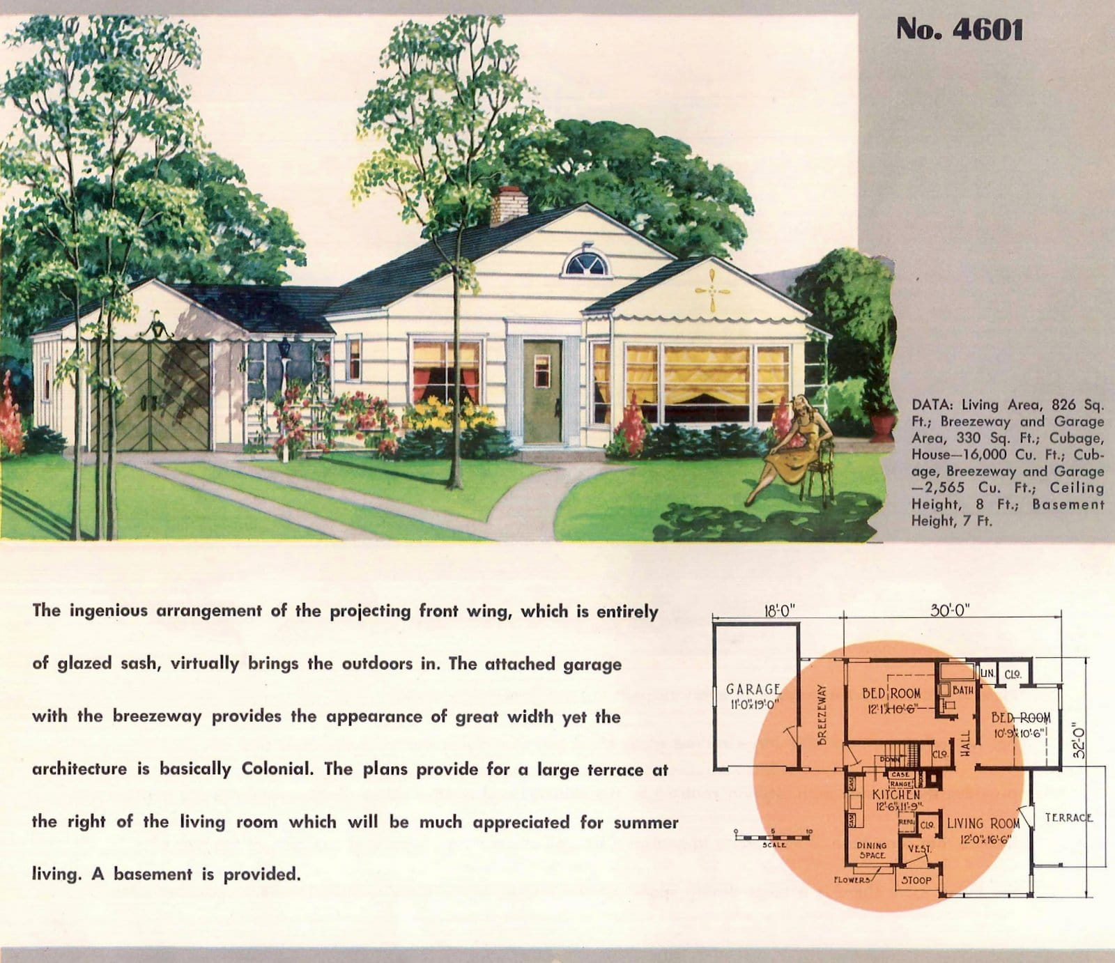 Vintage 50s small starter home designs from 1950 (9)