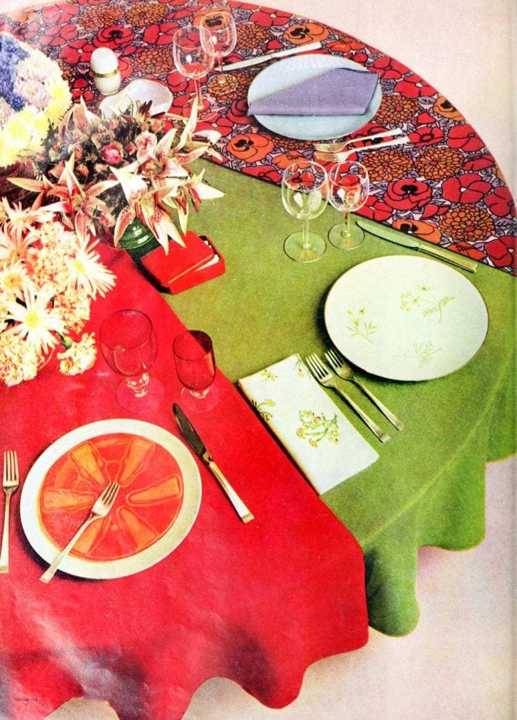 Vintage 50s table setting ideas from 1959 (1)