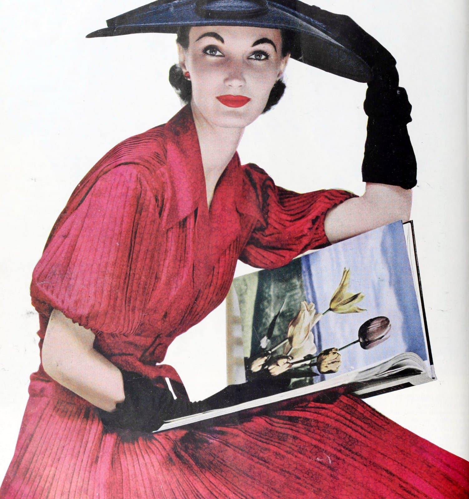 Vintage 50s women wearing gloves (10)