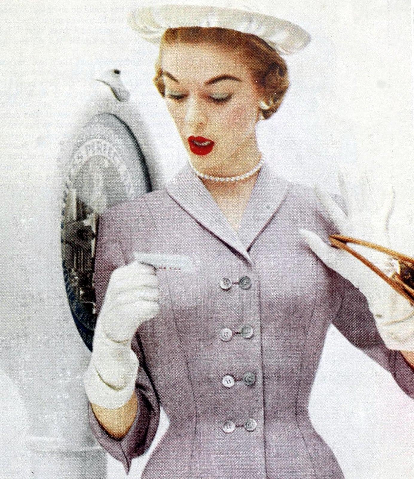 Vintage 50s women wearing gloves (12)