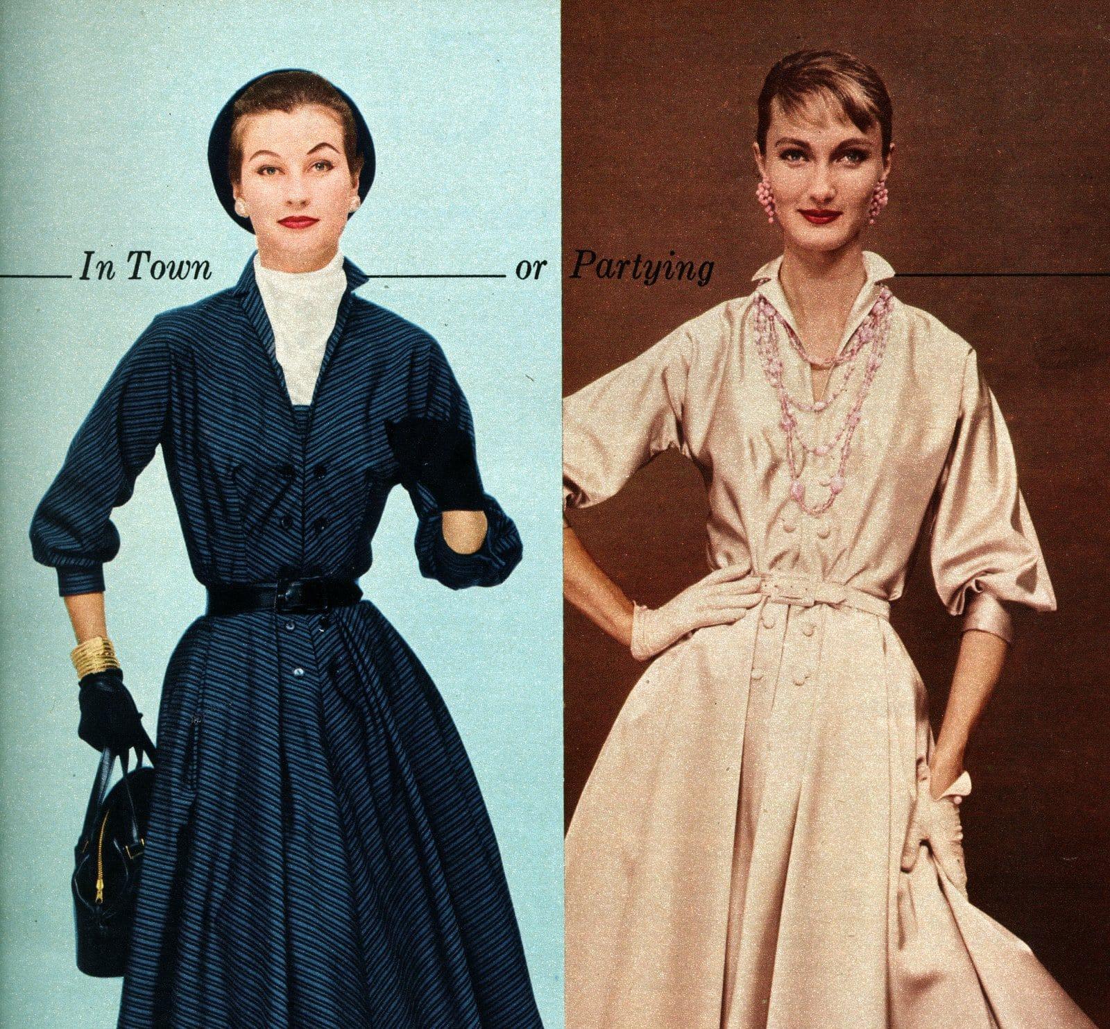 Vintage 50s women wearing gloves (3)
