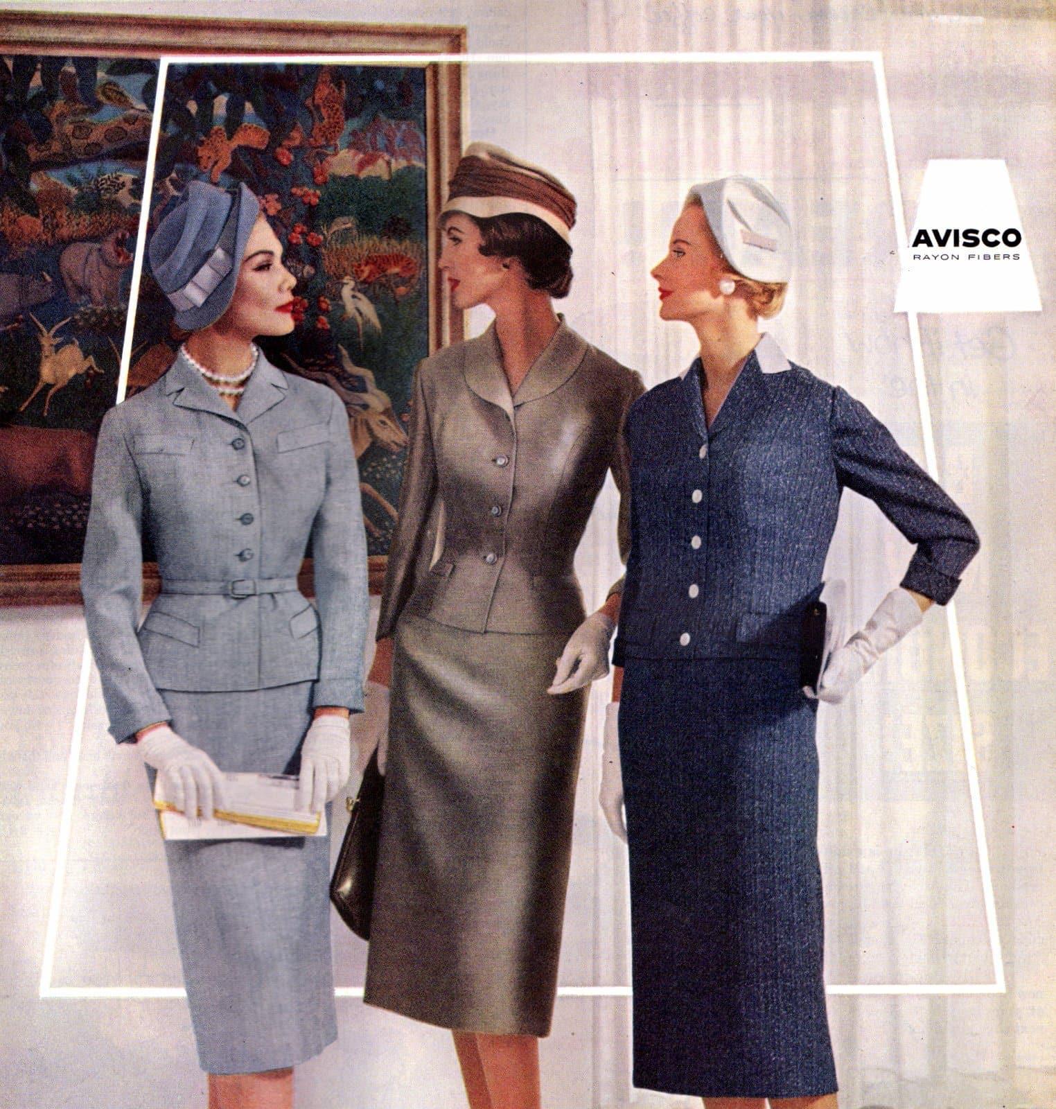 Vintage 50s women wearing gloves (4)