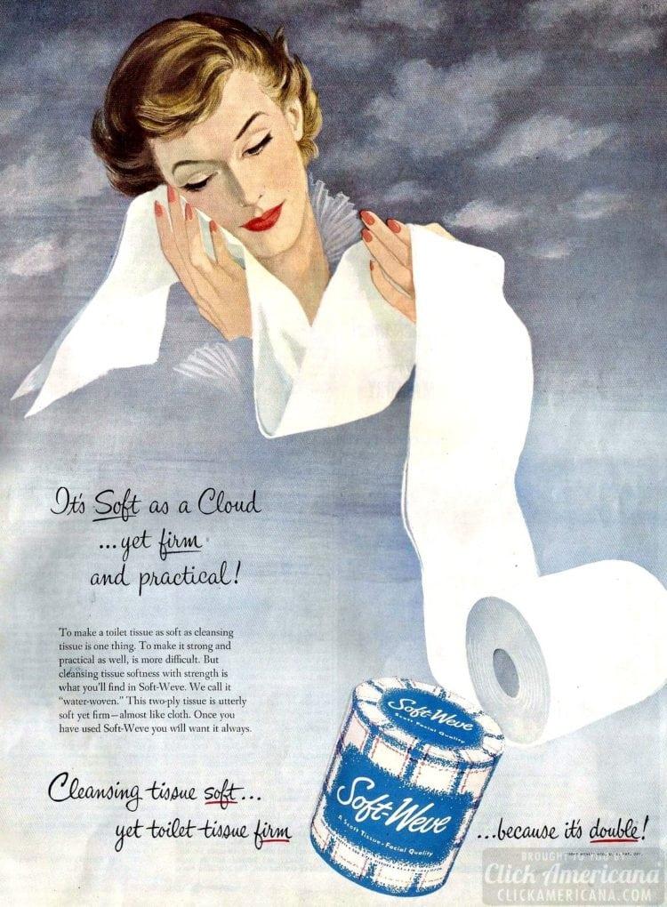 Vintage 50s women who love toilet paper (2)