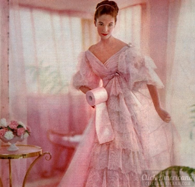 Vintage 50s women who love toilet paper (5)