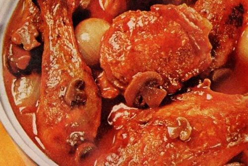 Vintage 60s Chicken Marengo recipe (1)