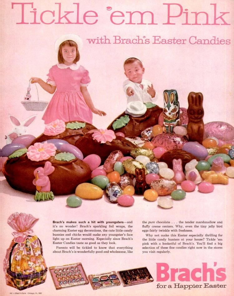 Vintage 60s Easter candy for kids from 1962