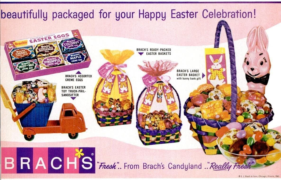 Vintage 60s Easter candy from 1965