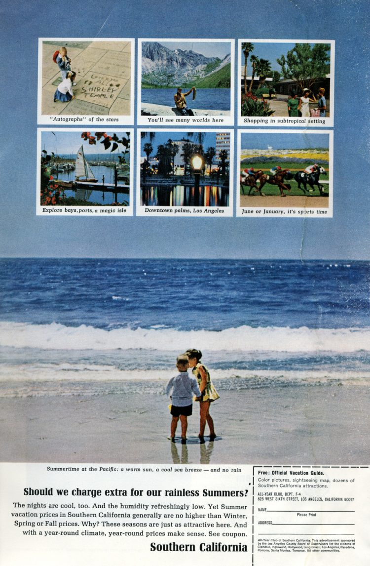 Vintage 60s Southern California vacations - 1965