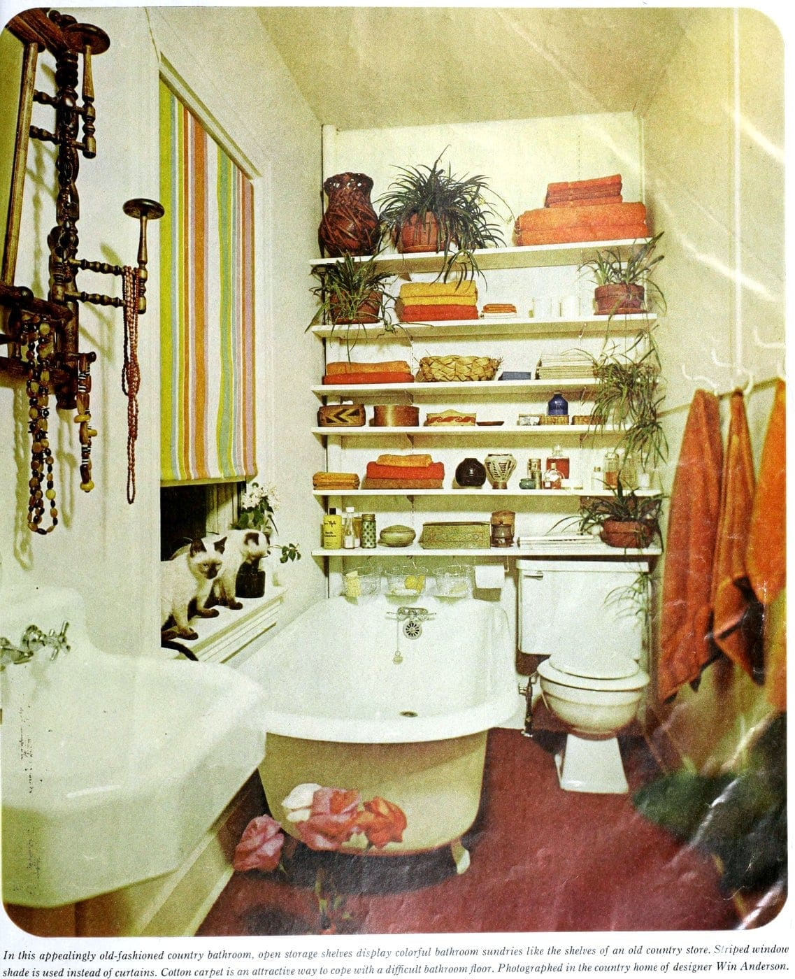 Vintage '60s bathrooms - Country style