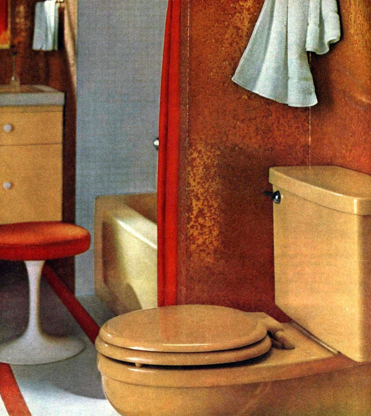 Vintage 60s bathroom decor ideas (2)