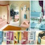 Vintage 60s bathrooms for retro home decor ideas