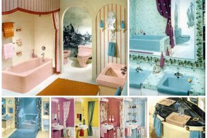 Vintage 60s bathrooms for retro home decor ideas