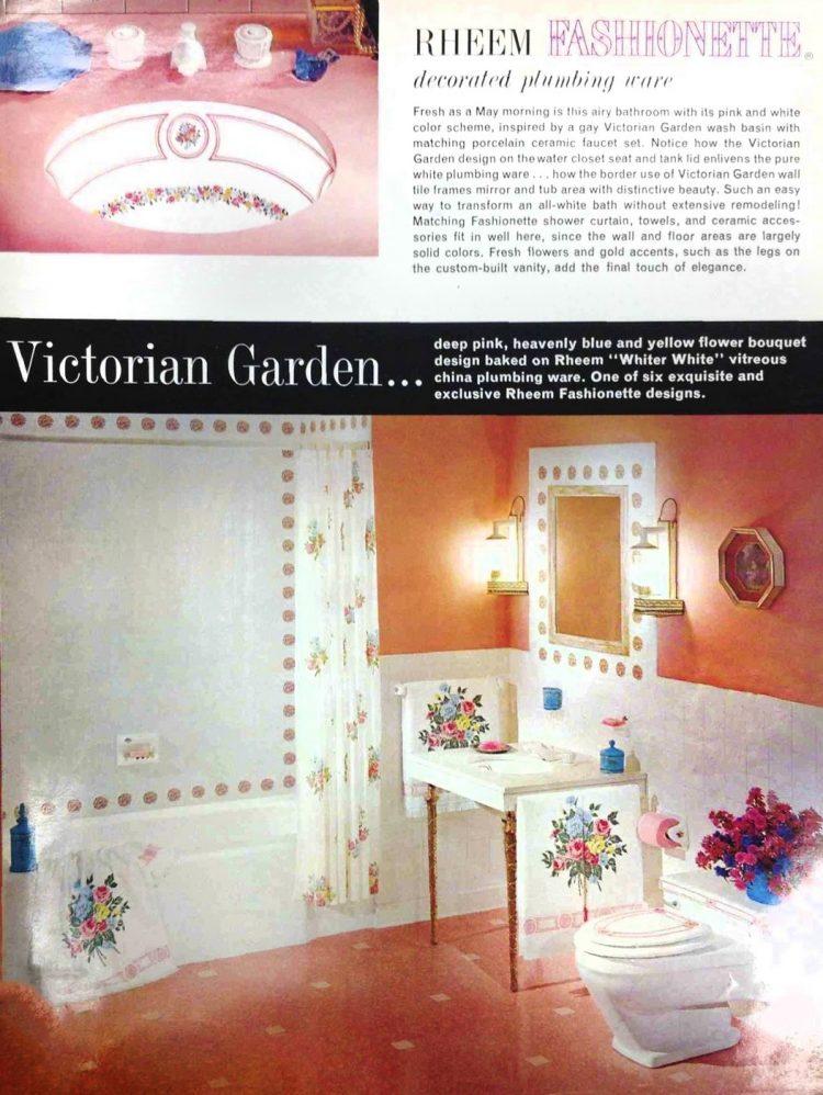 Vintage 60s decorated sinks and bathroom plumbing fixtures (1)