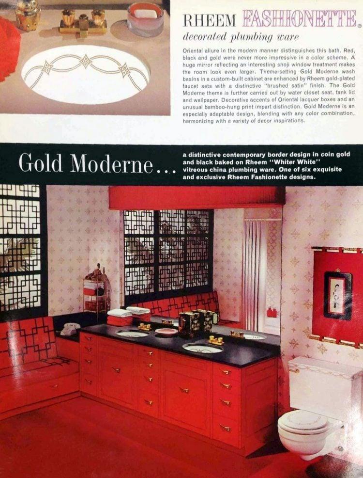 Vintage 60s decorated sinks and bathroom plumbing fixtures (3)