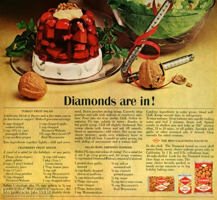 Vintage 60s holiday side dish recipes